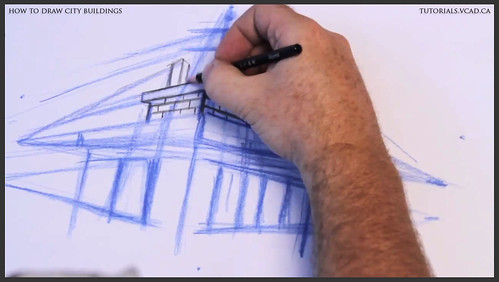 learn how to draw city buildings 011