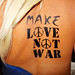 Flag Bodypaint, Make Love Not War Bodyart