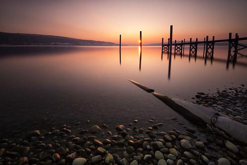 sunset sun lake water stone night landscape nikon wasser long exposure sonnenuntergang insel clear steine bodensee holz sonne stein constance steg langzeitbelichtung pfahl reichenau nd30 d800e