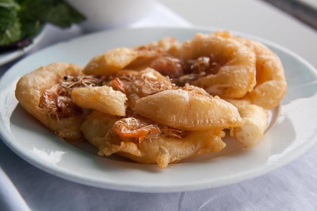 Fried Shrimp Cake Appetizer in West Lake District - Hanoi, Vietnam ...