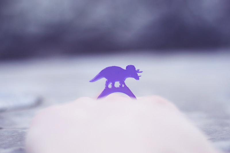 designosaur triceratops acrylic ring
