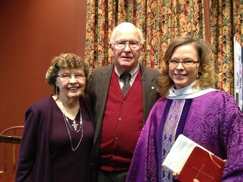 <p>Ruth Mark, Jesse Mark, and Dean Carol Wade</p>