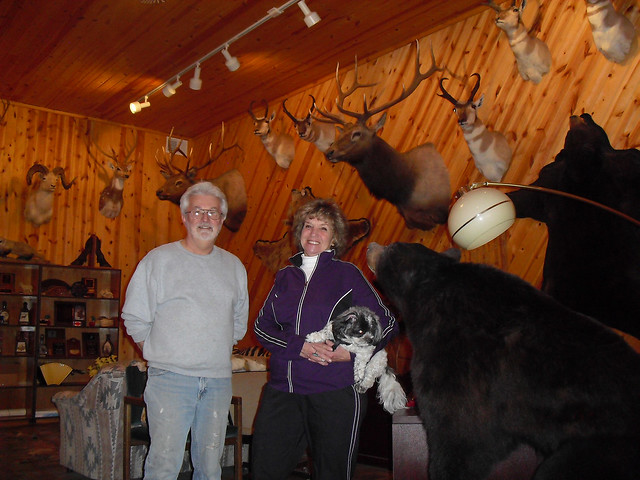 Larry & Annie Barnett in the Trophy Room