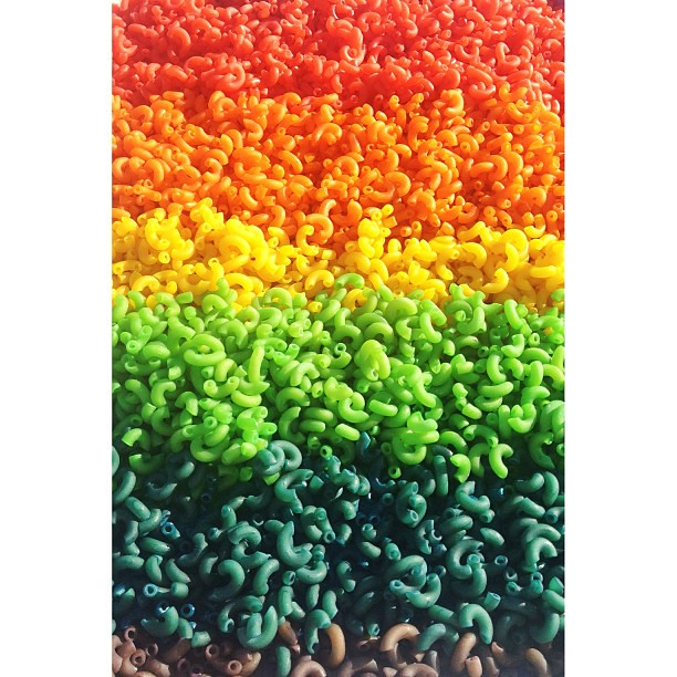 Pasta Rainbow. #rainbow #colorful #instacolor #brilliantbeginningspreschool