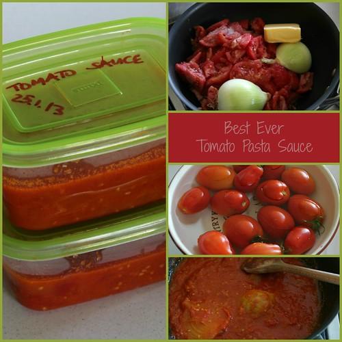 Tomato Pasta Sauce Collage 1