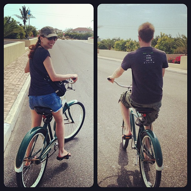 Beach biking in Providenciales, Turks and Caicos