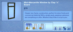 Mini-Mercantile Window by Clap 'n' Board