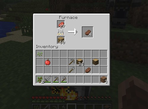 Minecraft - Cooking some steak