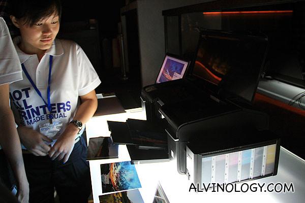 L-series printer models on display
