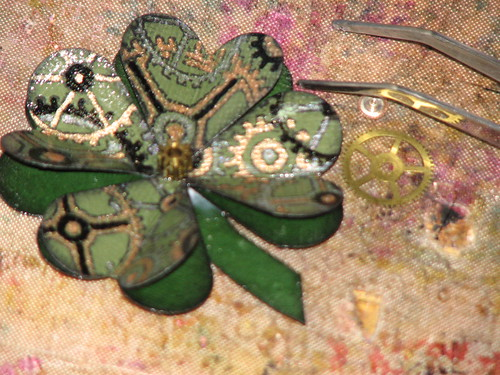 Steampunk Shamrock Pin 009