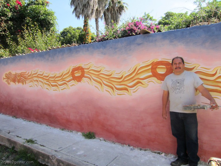 Jesús López Vega, beginning of mural