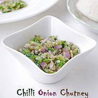 Green chilli onion chutney recipe