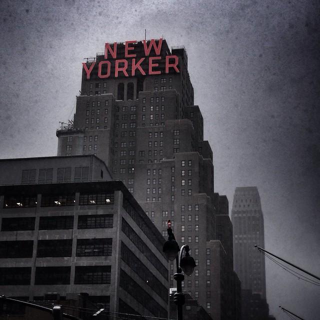 Snowy New Yorker building part two #walkingtoworktoday