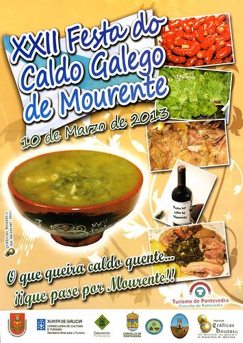Pontevedra 2013 - Festa do Caldo Galego de Mourente - cartel