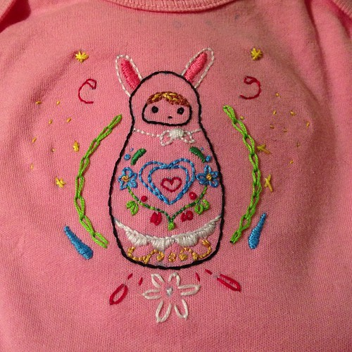 #embroidery onesie all finished up