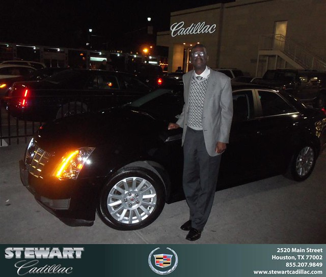 Congratulations To Larry White On The 2013 Cadillac CTS