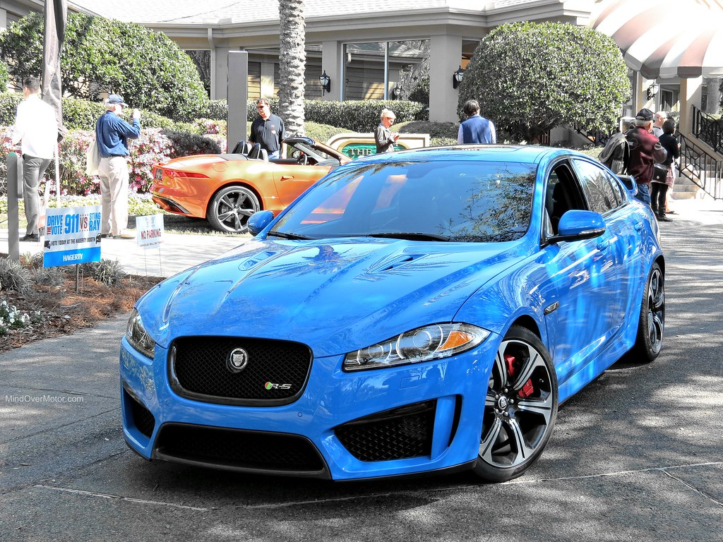 French Blue Jaguar XFR-S
