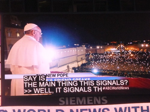 Pope Francis I in Times Square March 13, 2013