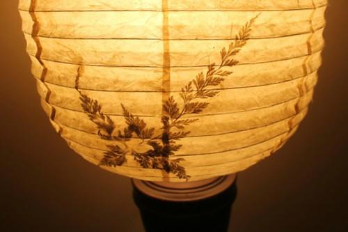 Lokta paper lampshade