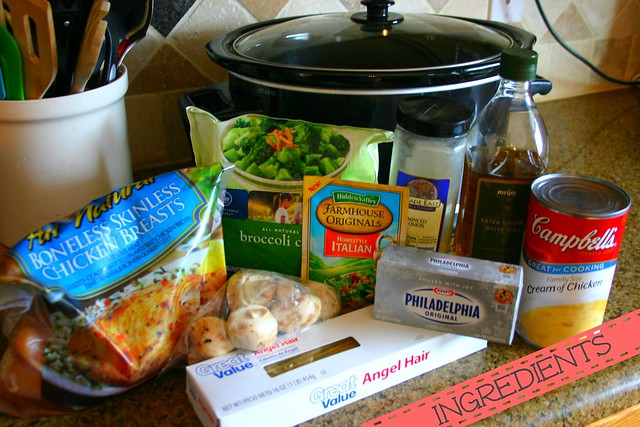 Cream Cheese Chicken with Broccoli - Ingredients
