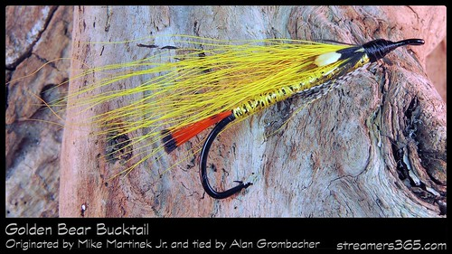 #24-2013 - Golden Bear Bucktail tied by Alan Grombacher