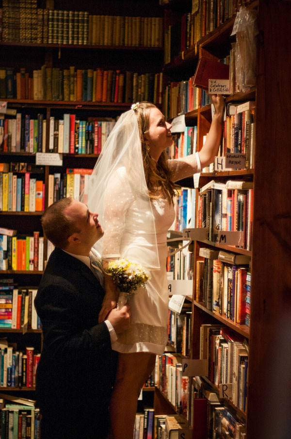 book shop wedding library