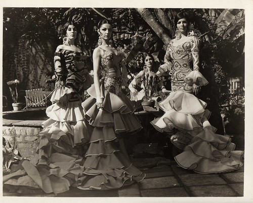In the courtyard between the Chartres St. club and our dressing rooms, in 1970.  L-R:  Mariana Maduell, Isabel ?, Denise De Felice (not a dancer, just posing), and Luisa Escobar.