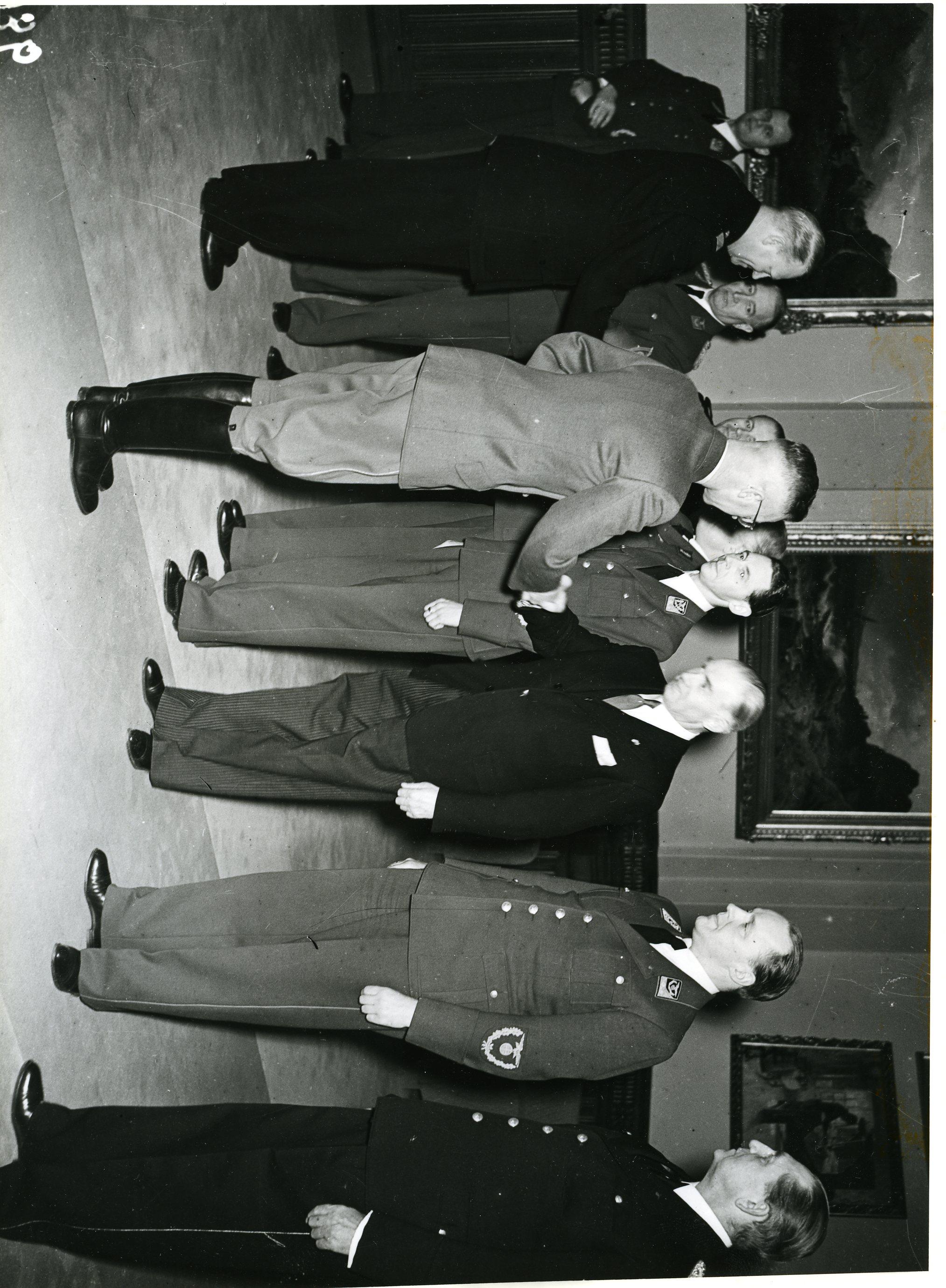 Reichskommissar Terboven tok imot de kommissariske statsråder i Stortinget 01.02.1942.
