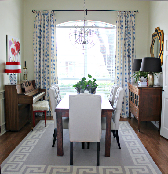 Dining Room Window: Hi Sugarplum!: {Dining Room} We Have Drapes, People