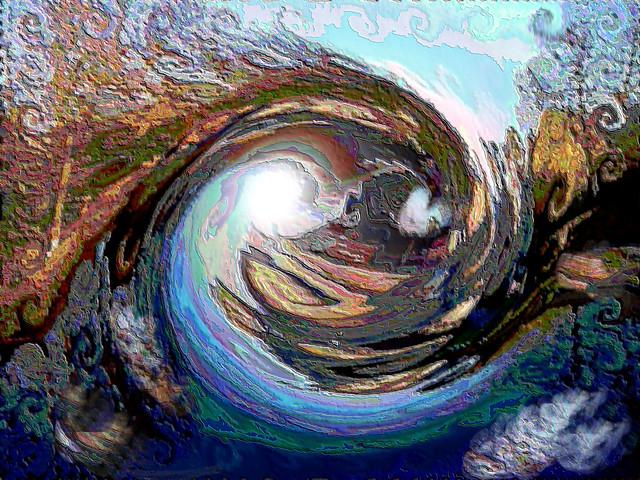 The canal an abstract, Fujifilm FinePix AV110