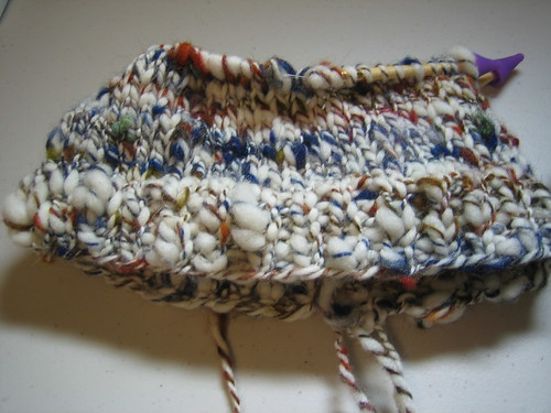 Handspun hat work-in-progress