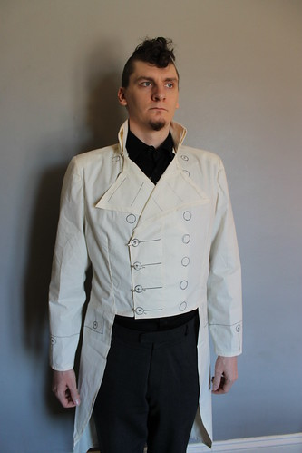 Custom tailcoat -  muslin fitting
