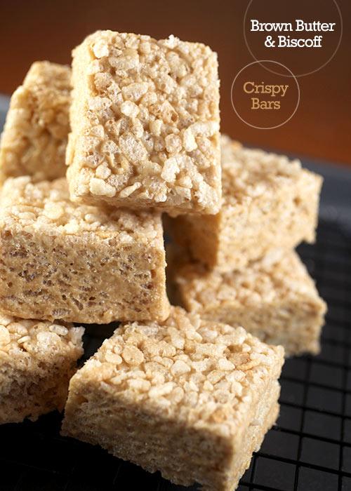 Brown Butter & Biscoff Crispy Treat Bars – bakerella com