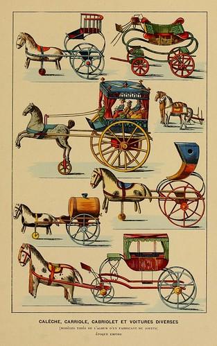 012-Calesa y coches diversos epoca Imperio-Histoire des jouets….1902- Henry René d' Allemagne