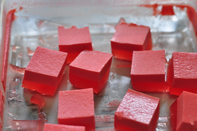 strawberry cream jello 06