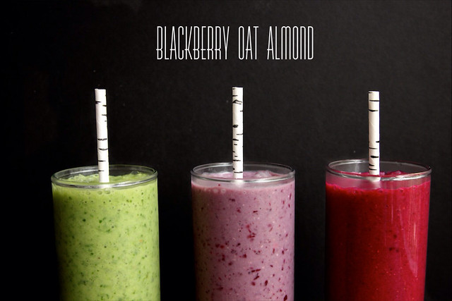 blackberry oat almond smoothie