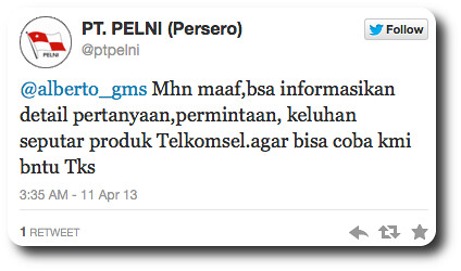 Telkomsel - PT Pelni: Socmed Disaster When The Admin Logged to The Wrong Company
