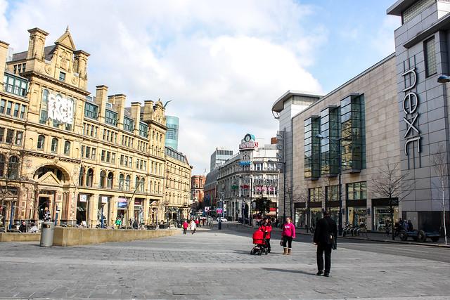 Exchange Square de Mánchester, Reino Unido.