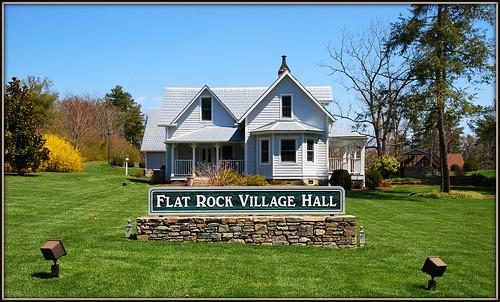 sign nc northcarolina townhall flatrock rockwork flatrocknc nikor1685vr