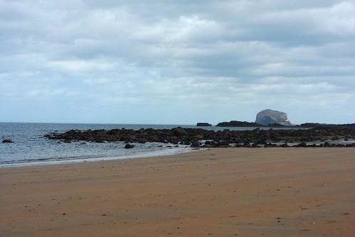 Looking toward Bass Rock from North Berwick beach