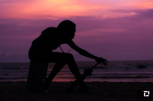 africa sunset beach silhouette pose nikon ghana accra sacky d7000 dextdee efyah