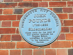Photo of John Pounds blue plaque