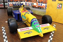 It was neat being able to sit in Schumacher's Benetton F1 car