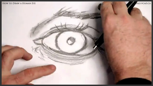 learn how to draw a human eye 013
