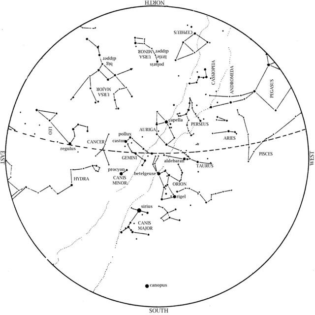 Sky Map: February 2013