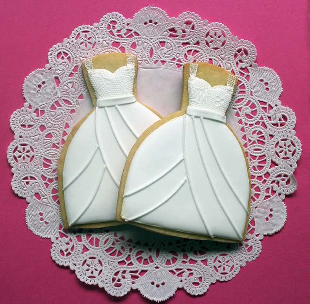 Lace Wedding Dress Cookies Flickr Photo Sharing