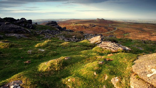 sunset wild rural evening devon granite remote wilderness tor moor dartmoor moorland westcountry goldenlight southwestengland eveningsunshine rippontor haytorvale haytorrocks hemsworthygate b3387
