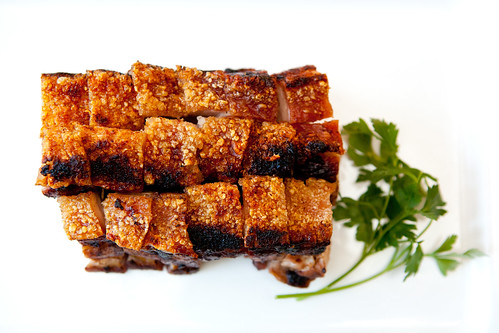 Homemade roast pork belly (Siu yuk; 燒肉)