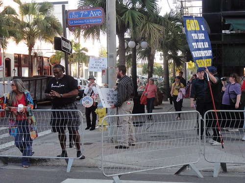 Christian protest at the Ybor Knight Parade
