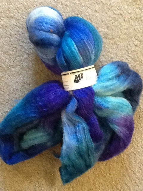 Abstract merino silk blend